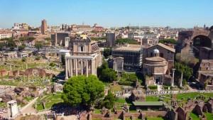 Blick aufs Forum Romanum vom Palatin aus
