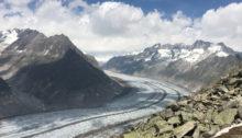 Der grosse Aletschgletscher vom Bettmerhorn aus gesehen