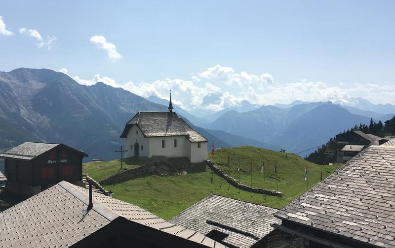 Die Kapelle auf der Bettmeralp, Wahrzeichen des Ortes
