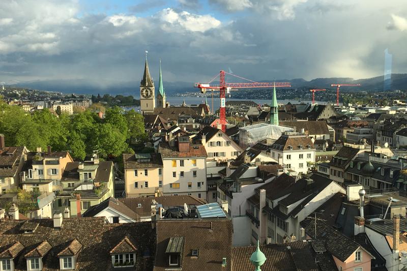 Zürichs Altstadt: Irgendwo wird immer gebaut