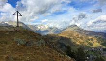 Die Bergspitze des Riederhorns