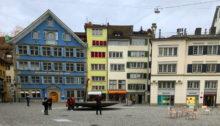 Der Münsterplatz in Zürich