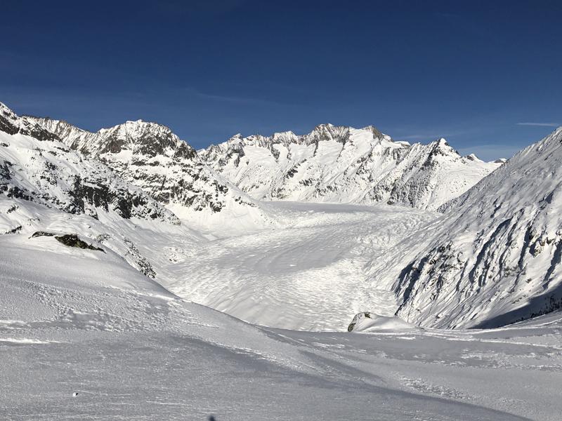 Immer wieder schön: Der Blick auf den Aletschgletscher