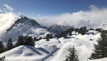 Der Winterwanderweg von der Riederfurka auf die Hohfluh