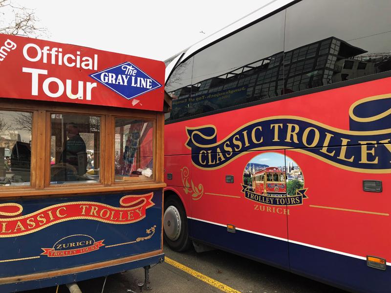 Nicht mehr nostaltischer Trolley, sondern moderner Bus