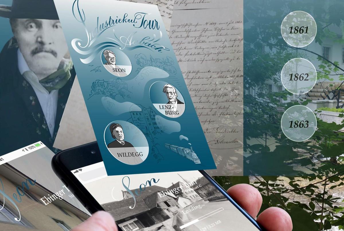 Die neue App zum Industriekulturpfad. © Museum Aargau
